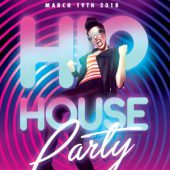 Hip House Flyer PSD