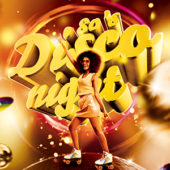 80s Disco Night Flyer PSD